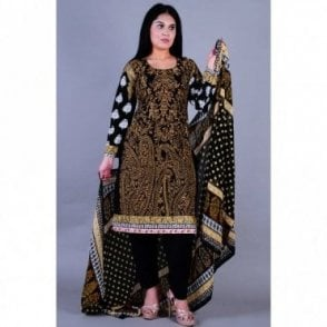 ML 12120 Cotton Suit with Chiffon Dupatta