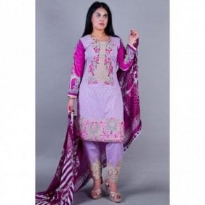 ML 12119 Cotton Suit with Chiffon Dupatta