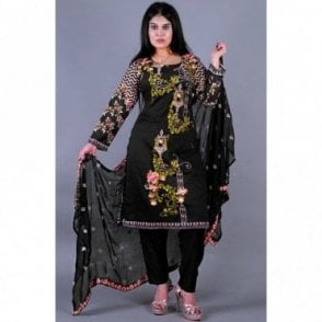 ML 12152 Cotton Suit with Chiffon Dupatta