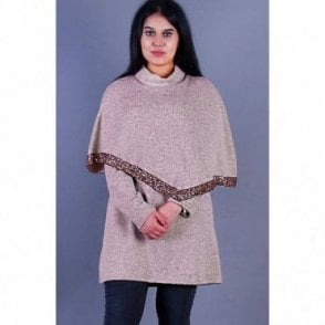 ML 31512 Collard Neck Wool Poncho
