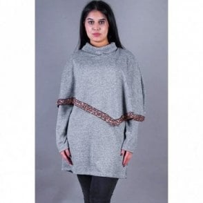 ML 31510 Collard Neck Wool Poncho