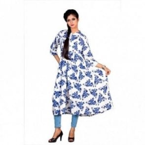 ML 12554 Floral Printed Kurta