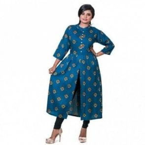 ML 12556 Floral Printed Kurta