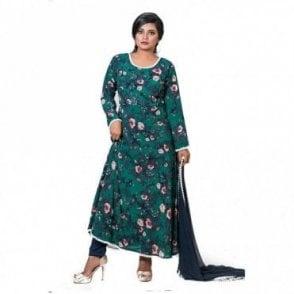 ML 12563 Churidar Long Dress Suit