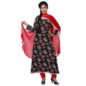 ML 12564 Churidar Long Dress Suit