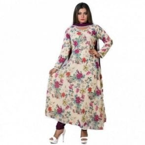 ML 12570 Churidar Long Dress Suit