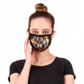MLP 081 Washable & Reusable Digital Tiger Printed Face Mask