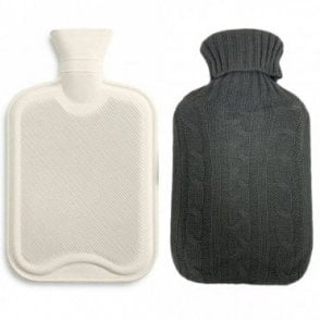 MLP 086: Premium Classic Rubber Hot Water Bottle with Knitted Soft Bag Cover