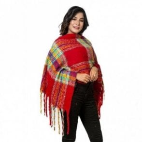 ML 6287 Women's Poncho Shawl