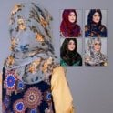 Jilbab/Abaya Scarf ML 6200 Floral Printed-5 Colours