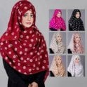 Jilbab/Abaya Scarf ML 6196 Floral Printed-7 Colours