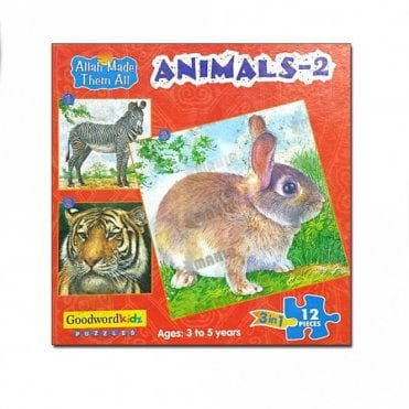 Animals-2 (Box of three puzzles)[MLB 8180]