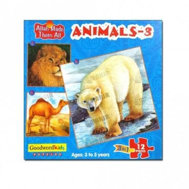 Animals-3 (Box of three puzzles)[MLB 8181]