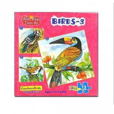 Birds-3 (Box of three puzzles)[MLB 8178]