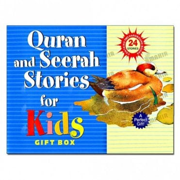 Quran and Seerah Stories for Kids Gift Box (Two Hard Bound Books)[MLB 899]