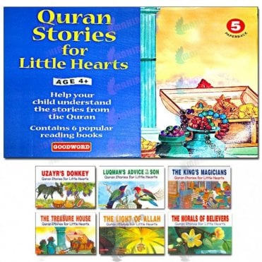 My Quran Stories for Little Hearts Gift Box-5 (Six Paperback Books)[MLB 893]