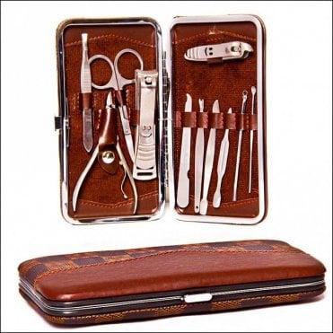 K-173  11 piece Large Size Manicure Set