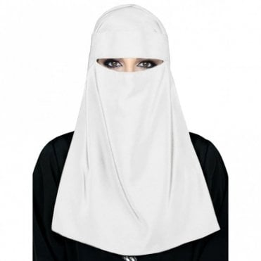 Islamic Ladies Veil-White