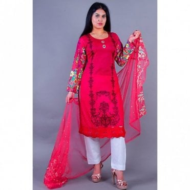ML 12157 Lawn Suit with Net Dupatta