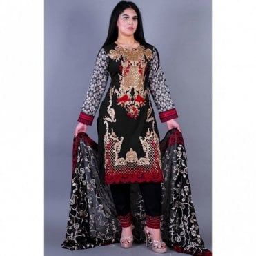 ML 12134 Cotton Suit with Chiffon Dupatta