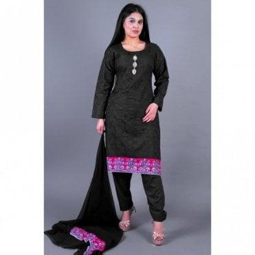 ML 12155 Cotton Suit with Chiffon Dupatta