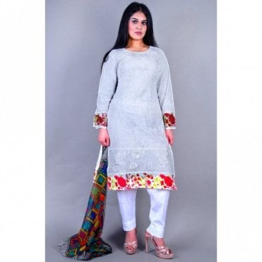 ML 12154 Cotton Suit with Net Dupatta