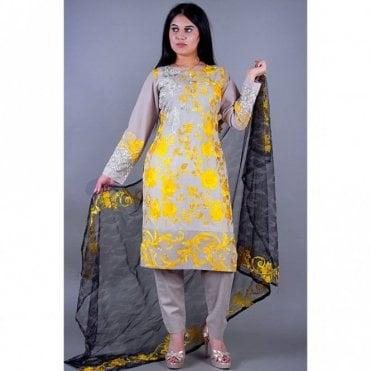 ML 12134 Cotton Suit with Net Dupatta