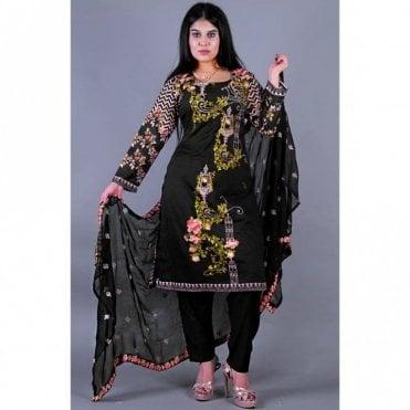 ML 12152 Cotton Suit with Chiffon Dupatta