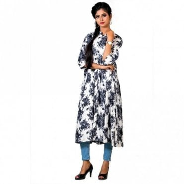 ML 12553 Floral Printed Kurta