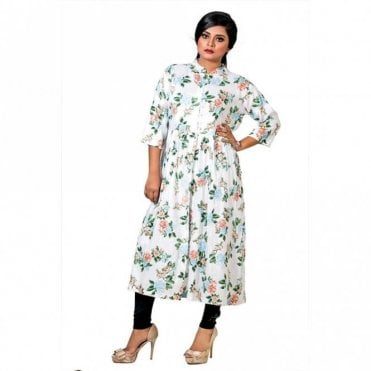 ML 12555 Floral Printed Kurta
