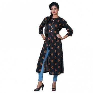 ML 12557 Floral Printed Kurta