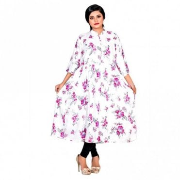 ML 12558 Floral Printed Kurta