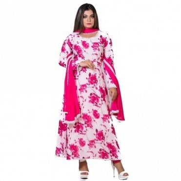 ML 12559 Churidar Long Dress Suit