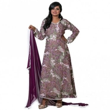 ML 12561 Churidar Long Dress Suit