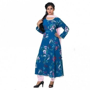 ML 12562 Churidar Long Dress Suit