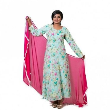 ML 12565 Churidar Long Dress Suit