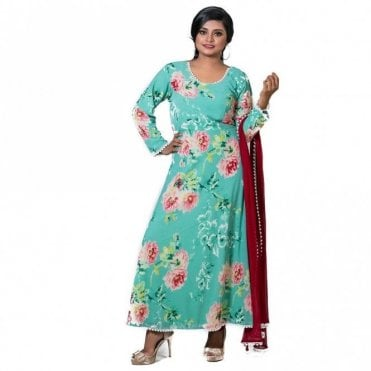 ML 12567 Churidar Long Dress Suit