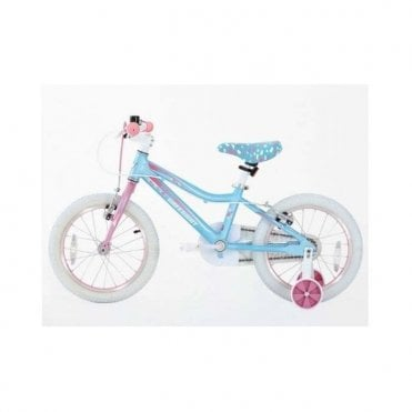 KB 10:GIRLS 16 INCH ALLOY BIKE WITH SUPPORT WHEEL