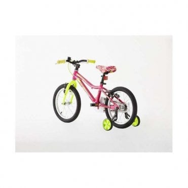 KB 11:GIRLS 16 INCH ALLOY BIKE WITH SUPPORT WHEEL