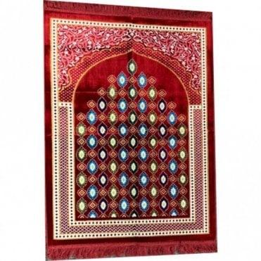 Islamic:: Islamic Prayer Mat / Rug / Musallah / Janamaz [ML 59R]