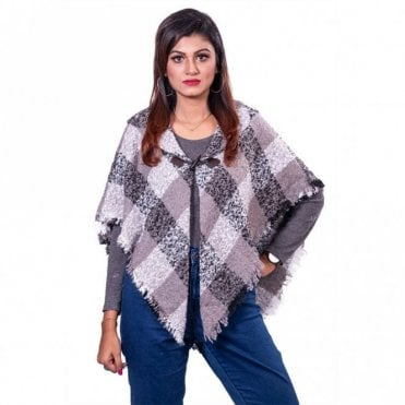 ML 31838 Women's Hooded Poncho Shawl