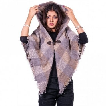 ML 31839 Women's Hooded Poncho Shawl